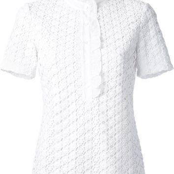Tory Burch 'Lidia' Lace Polo Shirt