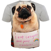 Pug Poops rainbows