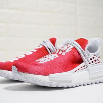 "Pharrell x adidas NMD Hu HOLI ""China Exclusive"" ""Red"" Running Sneaker F99761"