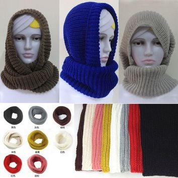New hot! fashion style Unisex Winter knitting Wool Collar Neck Warmer woman Ring Scarf Shawl,hijabs for women men