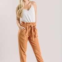 Riley Camel Orange Tapered Pants