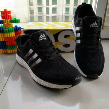 """Adidas"" Fashion Casual Unisex Breathable Comfortable Fly Weave Couple Sneakers Running Shoes"