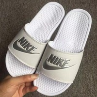 NIKE Women Fashion Simple Flat Bottom Slippers Slides Sandals Shoes