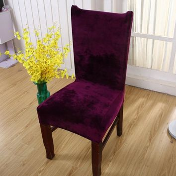 High Quality Fabric Stretch Chair Cover Elastic Chair Seat Covers For Banquet Home Wedding Decoration Home Slipcover
