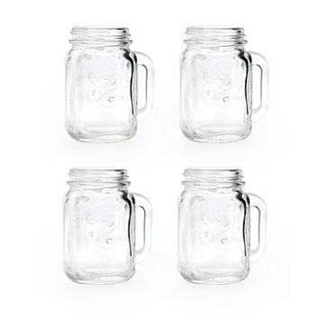 Mason Jar Shot Glasses - Kikkerland Design Inc