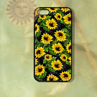 Sunflowers -iPhone 5, iphone 4s, iphone 4 case, Samsung GS3 case, Ipod touch case-Silicone Rubber / Hard Plastic Case, Phone cover