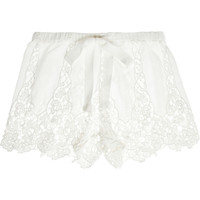 Miguelina | Gwen crocheted-cotton shorts