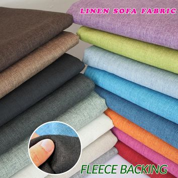 """Compound lining Linen Fabric Sofa Cushion Fabirc Sewing Cloth Outdoor Linen Blend Fabric Upholstery 58"""" wide Per Yard"""