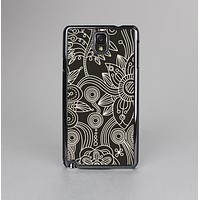 The Black Floral Laced Pattern V2 Skin-Sert Case for the Samsung Galaxy Note 3