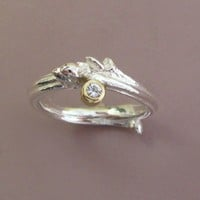 $165.00 Oak Branch Twig Ring in Sterling Silver 18k Gold and by esdesigns