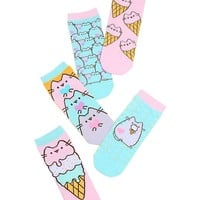 Pusheen Ice Cream No-Show Socks 5 Pair