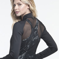 Norma Kamali Zip Jacket with Mesh in Black