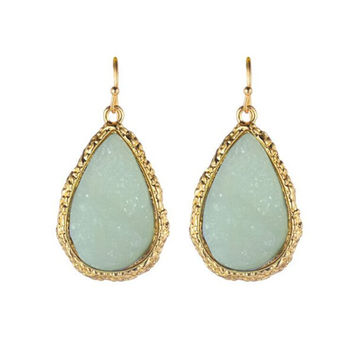 Mint Stone Inspired Drop Earrings