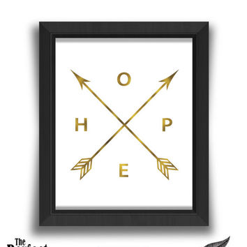 Hope Arrows Print | Arrow Art Print | Hope Print | Arrow Print | Hope Arrows | Wall Art