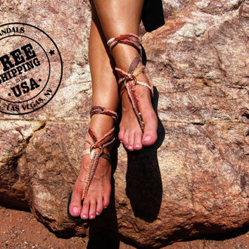 Lace Up Gladiator Sandal with Desert Wanderer Laces-FREE SHIPPING in the USA- Women's Sandals-Vegan Sandals-Boho Sandals