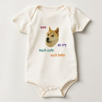 Customizable Baby Doge Apparel Baby Bodysuit