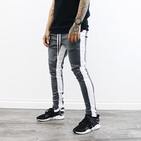 Kaden Track Pants (Grey/White)