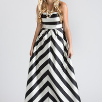 Cassia Striped Gown