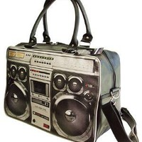 PLASTICLAND - Large 80's Style Ghetto Blaster Weekend Bag