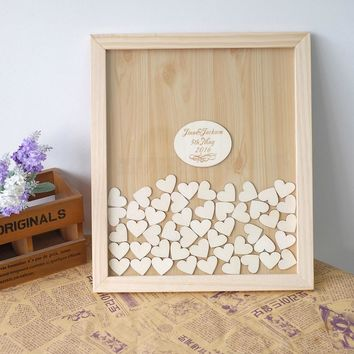 Custom Wedding Guest book, Personalized Wedding Guest Frame