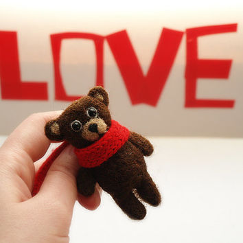 teddy bear, teddy brooch, felt brooch, bear Jewelry, cute, for kids, for adults, accessoire,  Felt pin
