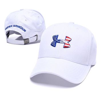 Under Armour Trending Women Men Embroidery Sports Sun Hat Baseball Cap Hat White