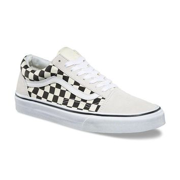 qiyif VANS CHECKERBOARD OLD SKOOL - Black/White