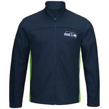 NFL Seattle Seahawks Transitional Zippered Jacket - X-Large