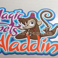 Magic Carpets of Aladdin ride Disney World die cut paper piecing for scrapbooking