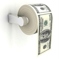 Big Mouth Toys 100 Dollar Money Funny Toilet Paper