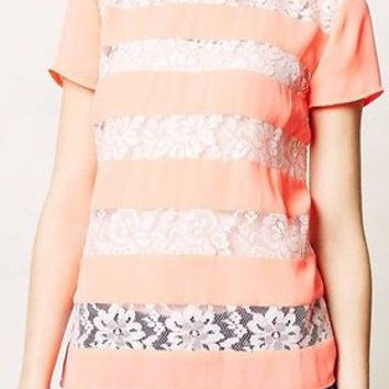 Anthropologie Frisson Tee Top Blouse By HD in Paris Sz 8 - NWT