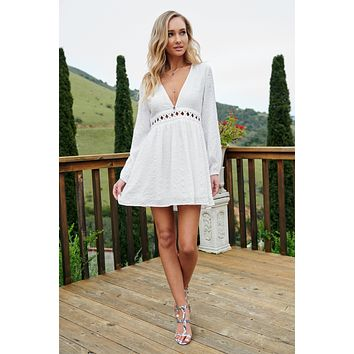 Lurlynn Cut Out Dress (Off White)