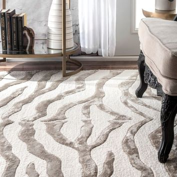 nuLOOM New Zealand Faux/ Silk Zebra Rug (7'6 x 9'6) | Overstock.com Shopping - The Best Deals on 7x9 - 10x14 Rugs