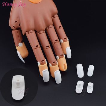 100pcs/Lot Refill Replace False Finger Tips For Flexible Training Practice Trainer Hand Nail Art Tools Replacement Nails Tips