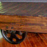 Fully Restored Vintage Warehouse Coffee Table Cart