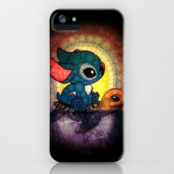 Keep Swimming Stitch iPhone & iPod Case by Alohalani