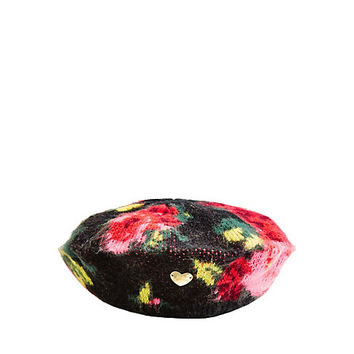 VINTAGE BOUQUET BERET: Betsey Johnson