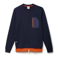 Sleek Pocket Navy Sweatshirt by Lacoste