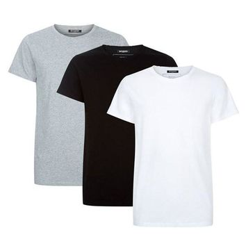 Raw Hemmed Cut 3-Pack Crew by Balmain