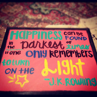 JK Rowling Quote Painting