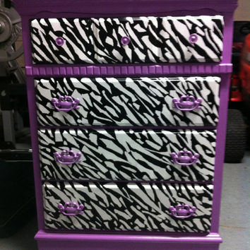 Custom Purple and ZEBRA Dresser