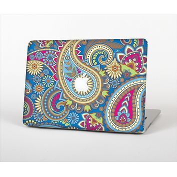 The Subtle Blue & Yellow Paisley Pattern Skin Set for the Apple MacBook Air 11""