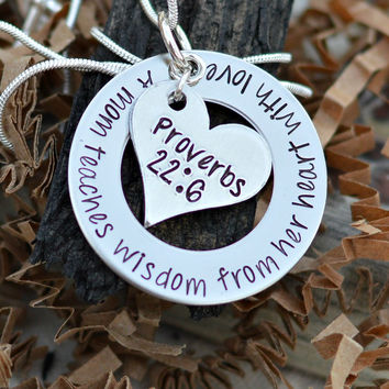 Gift for Homeschool Mom - Proverbs Necklace - Christian Gifts