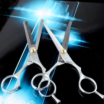 New Professional Hair Cutting Scissors Barber Shears Thinning Hairdresser Set CO 7_S = 1917032964