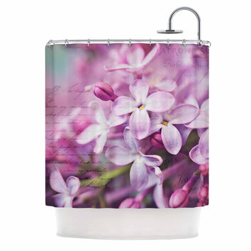 "Sylvia Cook ""French Lilacs"" Purple Photography Shower Curtain"