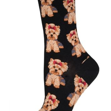Socksmith Yorkies Black Socks