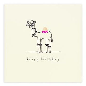 Birthday Camel Pencil Shavings Card