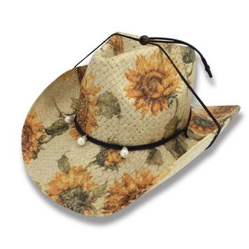 Calamity Jane Sunflower Western Cowgirl Hat