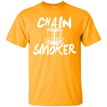 Chain Smoker Men's Disc Golf Novelty T Shirt