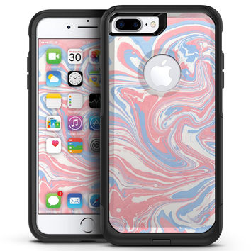 Marbleized Swirling Pink and Blue - iPhone 7 or 7 Plus Commuter Case Skin Kit